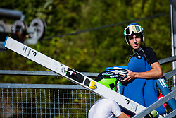Timi Zajc during practice session of Slovenian national Ski Jumping team on 18 August, 2020, in Kranj, Slovenia.  Photo by Grega Valancic / Sportida