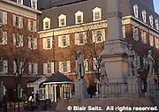 Lancaster, PA street scape, City square monument