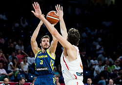 Goran Dragic of Slovenia vs Pau Gasol of Spain during basketball match between National Teams of Slovenia and Spain at Day 15 in Semifinal of the FIBA EuroBasket 2017 at Sinan Erdem Dome in Istanbul, Turkey on September 14, 2017. Photo by Vid Ponikvar / Sportida