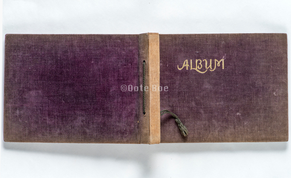 front and back of a old photo album