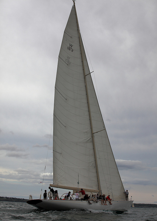 S/Y White Wings at the 2010 Newport Bucket. Super yachts racing in the 2010 Newport Bucket.