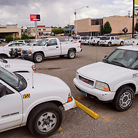 070315       Cable Hoover<br /> <br /> The lot at the corner of 4th Street and Aztec Avenue is currently being used to park city vehicles but is  one of several properties scheduled for sale to relieve Diocese of Gallup bankruptcy.