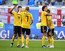 July 14, 2018 - Saint Petersbourg, Russie - SAINT PETERSBURG, RUSSIA - JULY 14 : Moussa Dembele midfielder of Belgium , Kevin De Bruyne forward of Belgium; Axel Witsel midfielder of Belgium, Eden Hazard midfielder of Belgium during the FIFA 2018 World Cup Russia Play-off for third place match between Belgium and England at the Saint Petersburg Stadium on July 14, 2018 in Saint Petersburg, Russia, 14/07/18 (Credit Image: © Panoramic via ZUMA Press)