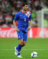 Fotball<br /> 10.06.2012<br /> EM 2012<br /> Irland v Kroatia<br /> Foto: Witters/Digitalsport<br /> NORWAY ONLY<br /> <br /> Vedran Corluka (Kroatien)<br /> Fussball EURO 2012, Vorrunde, Gruppe C, Irland - Kroatien 1:3