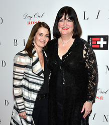 L-R: Kari Strand and singer Ann Hampton Callaway attend the NY premiere of Blind at the Landmark Sunshine Cinemas in New York, NY on June 26, 2017.  (Photo by Stephen Smith) *** Please Use Credit from Credit Field ***