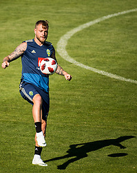 July 4, 2018 - Gelendzhik, Russia - 180704 John Guidetti of the Swedish national football team at a practice session during the FIFA World Cup on July 4, 2018 in Gelendzhik..Photo: Petter Arvidson / BILDBYRN / kod PA / 92081 (Credit Image: © Petter Arvidson/Bildbyran via ZUMA Press)