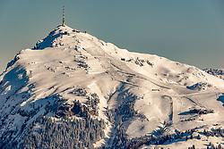 THEMENBILD - Das Kitzbueheler Horn, aufgenommen am 05. Februar 2018, Kitzbuehel, Oesterreich // the Kitzbueheler Horn at the Hahnenkamm in Kitzbuehel, Austria on 2018/02/05. EXPA Pictures © 2018, PhotoCredit: EXPA/ Stefan Adelsberger