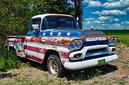 Old GMC pickup near the town of Lyons, Kansas.