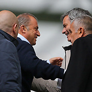 Galatasaray's coach Fatih Terim (L) and Jose Mourinho (R) during their Turkish superleague soccer match Kayserispor between Galatasaray at Kadir Has Stadium in Kayseri Turkey on Sunday, 17 March 2013. Photo by TURKPIX