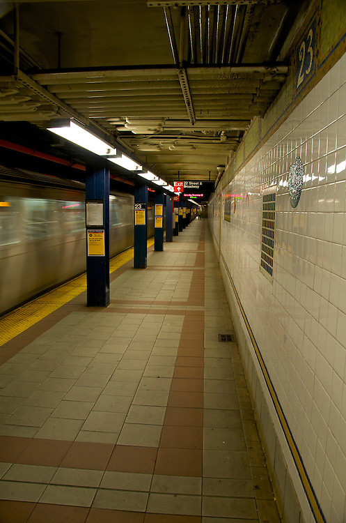 Subway station in Manhattan,  23rd Street and Broadway New York, November 2008