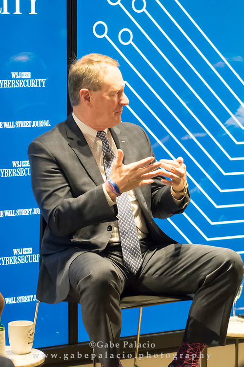 The WSJpro Cybersecurity event featuring John Felker, Director, National Cybersecurity and Communications Integration Center, U.S. Department of Homeland Security in New York City on December 12, 2017. (photo by Gabe Palacio)