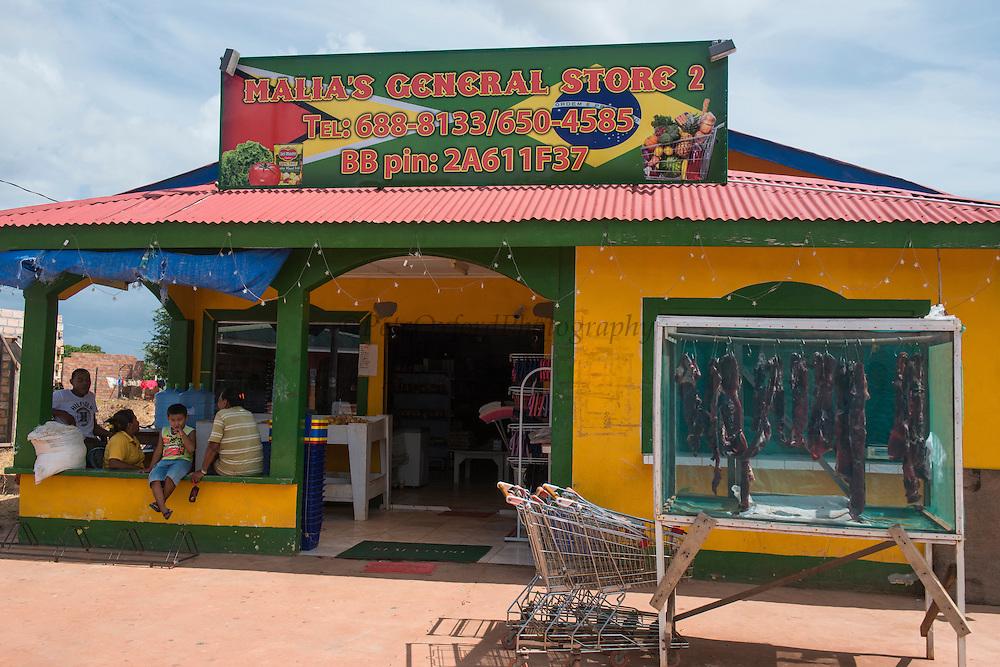 General Store<br /> Lethem Town<br /> Savanna <br /> Rupununi<br /> GUYANA<br /> South America<br /> Dried meat (Tasso)
