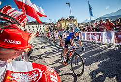 BAGIOLI Andrea of Italy during the Men Under 23 Road Race 179.9km Race from Kufstein to Innsbruck 582m at the 91st UCI Road World Championships 2018 / RR / RWC / on September 28, 2018 in Innsbruck, Austria.  Photo by Vid Ponikvar / Sportida