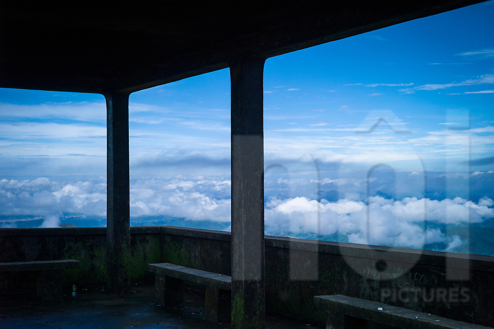 Belvedere with a stunning view over a sea of clouds, Mau Son, Vietnam
