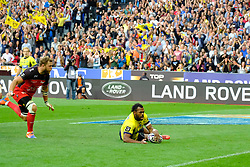 June 5, 2017 - Saint Denis, Seine Saint Denis, France - RAKA player of the ASM Clermont-Auvergne, scored the first try during the final of the French Rugby Championship Top 14 against Rugby Club Toulonnais at the Stade de France - St Denis France.ASM Clermont beat RC Toulon 22-16 (Credit Image: © Pierre Stevenin via ZUMA Wire)