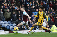 Burnley's Ashley Barnes controls under pressure from Brighton & Hove Albion's Bernardo<br /> <br /> Photographer Rich Linley/CameraSport<br /> <br /> The Premier League - Burnley v Brighton and Hove Albion - Saturday 8th December 2018 - Turf Moor - Burnley<br /> <br /> World Copyright © 2018 CameraSport. All rights reserved. 43 Linden Ave. Countesthorpe. Leicester. England. LE8 5PG - Tel: +44 (0) 116 277 4147 - admin@camerasport.com - www.camerasport.com