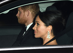 Members of The Royal Family leave Kensington Palace to attend Prince Charles 70th Birthday Party at Buckingham Palace, London, UK, on the 14th November 2018. 14 Nov 2018 Pictured: Prince Harry, Duke of Sussex, Meghan Markle, Duchess of Sussex. Photo credit: James Whatling / MEGA TheMegaAgency.com +1 888 505 6342