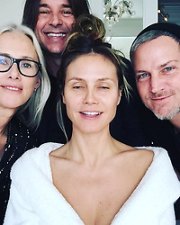 """Heidi Klum releases a photo on Instagram with the following caption: """"Golden Globes 2019\ngetting ready with @lindahaymakeup @hairbylorenzomartin @tombachik \ud83e\udd17\ud83d\udc84\ud83d\udc44\ud83d\udc85\ud83c\udffb\ud83d\udc83\ud83c\udffc\ud83d\udc60"""". Photo Credit: Instagram *** No USA Distribution *** For Editorial Use Only *** Not to be Published in Books or Photo Books ***  Please note: Fees charged by the agency are for the agency's services only, and do not, nor are they intended to, convey to the user any ownership of Copyright or License in the material. The agency does not claim any ownership including but not limited to Copyright or License in the attached material. By publishing this material you expressly agree to indemnify and to hold the agency and its directors, shareholders and employees harmless from any loss, claims, damages, demands, expenses (including legal fees), or any causes of action or allegation against the agency arising out of or connected in any way with publication of the material."""