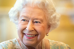 Queen Elizabeth II hosts a reception at Buckingham Palace in London, to mark the work of The Queen's Trust. PA Photo. Picture date: Thursday October 17, 2019. See PA story ROYAL Queen . Photo credit should read: Victoria Jones/PA Wire