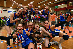 20180509 NED: Eredivisie Coolen Alterno - Sliedrecht Sport, Apeldoorn<br />Vreugde bij speelsters Sliedrecht Sport <br />©2018-FotoHoogendoorn.nl