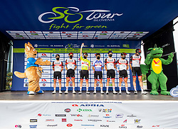 UAE Team with Tadej POGACAR of UAE TEAM EMIRATES and Jan POLANC of UAE TEAM EMIRATES during the 5th Stage of 27th Tour of Slovenia 2021 cycling race between Ljubljana and Novo mesto (175,3 km), on June 13, 2021 in Ljubljana - Novo mesto, Ljubljana - Novo mesto, Slovenia. Photo by Vid Ponikvar / Sportida