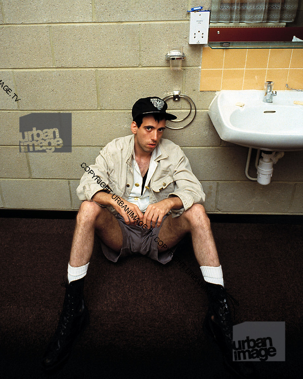 Mick Jones The Clash backstage at the Manchester Apollo 1980