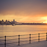 A winter sunrise as seen from Seacombe.