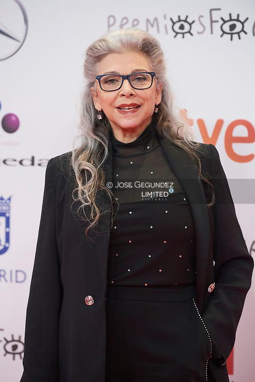 Kiti Manver attends 26th Jose Maria Forque Awards red carpet at Palacio de Congresos IFEMA on January 16, 2021 in Madrid, Spain