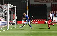 Photo: Mark Stephenson.<br /> Walsall v Birmingham City. Pre Season Friendly. 28/07/2007.Birmingham's new signin Mikael Forssell scores