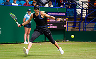 Paula Badosa of Spain in action against Elina Svitolina of the Ukraine during her first round match at the 2021 Viking International WTA 500 tennis tournament on June 22, 2021 at Devonshire Park Tennis in Eastbourne, England - Photo Rob Prange / Spain ProSportsImages / DPPI / ProSportsImages / DPPI