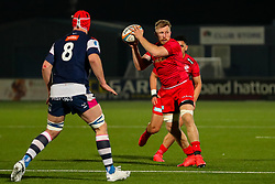 Jackson Wray of Saracens catches the ball - Mandatory by-line: Nick Browning/JMP - 26/02/2021 - RUGBY - Butts Park Arena - Coventry, England - Coventry Rugby v Saracens - Friendly