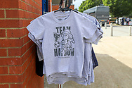 Haydon the Womble T Shirts during the EFL Sky Bet League 1 match between AFC Wimbledon and Accrington Stanley at the Cherry Red Records Stadium, Kingston, England on 17 August 2019.