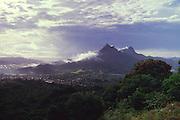 Mt. Olomana, Windward Oahu, Hawaii<br />