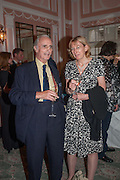 DR. TOM STUTTAFORD; REBECCA WALLERSTEINER;  The Oldie - 20th anniversary party. Simpson's-in-the-Strand, 100 Strand, London, WC2. 19 July 2012