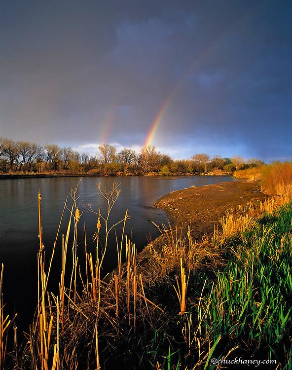 Rainbow over the North Platte River near Scottsbluff Nebraska