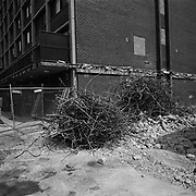 Demolition to allow for the building of condominiums in the Shaw neighbourhood in Washington D.C., USA.<br /> <br /> (Credit Image: © Louie Palu/ZUMA Press)