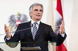 14.05.2013, Bundeskanzleramt, Wien, AUT, Bundesregierung, Pressefoyer nach Sitzung des Ministerrats, im Bild Bundeskanzler Werner Faymann SPOe // Federal Chancellor Werner Faymann SPOe during press foyer after  council of ministers, Chancellors office, Vienna, Austria on 2013/05/14, EXPA Pictures © 2013, PhotoCredit: EXPA/ Michael Gruber