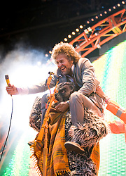 Wayne Coyne of The Flaming Lips, on the main stage. .Rockness, Friday 12th June 2009..Pic © Michael Schofield. All Rights Reserved.