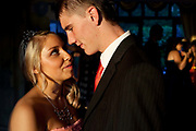 Claudia Gilchrist, 16 with boyfriend Steve Drake and other Students from Highsted Grammar School, Sittingbourne, enjoying  their prom night, Hempstead House Hotel in Kent. In recent years American style prom nights to celebrate graduation from high School have been gaining popularity in the UK. These pictures are part of a set  commissioned for the Times magazine that  look at this teenage rite of passage across three schools in the UK