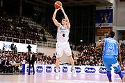 DESCRIZIONE : Trento Lega A 2014-15 Playoff Quarti di Finale Gara 1 Dolomiti Energia Trento Banco di Sardegna Sassari<br /> GIOCATORE : Marco Spanghero<br /> CATEGORIA : tiro three points<br /> SQUADRA : Dolomiti Energia Trento<br /> EVENTO : Lega A 2014-2015 Playoff Quarti di Finale Gara 1<br /> GARA : Dolomiti Energia Trento Banco di Sardegna Sassari<br /> DATA : 18/05/2015<br /> SPORT : Pallacanestro<br /> AUTORE : Agenzia Ciamillo-Castoria/M.Marchi<br /> Galleria : Lega Basket A 2014-2015 <br /> Fotonotizia: Trento Lega A 2014-15 Playoff Quarti di Finale Gara 1 Dolomiti Energia Trento Banco di Sardegna Sassari