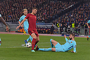 Foto Fabio Rossi/AS Roma/ LaPresse<br /> 10/4/2018 Roma (Italia)<br /> Sport Calcio<br /> Roma-FC Barcellona<br /> UEFA Champions League 2017/2018 - Stadio Olimpico di Roma<br /> Nella foto: Edin Dzeko<br /> <br /> Photo  Fabio Rossi/AS Roma/ LaPresse<br /> 10/4/2018 Rome (Italy)<br /> Sport Football<br /> Roma-FC Barcelona<br /> UEFA Champions League  2017/2018 - Stadio Olimpico di Roma<br /> In the pic: Edin Dzeko