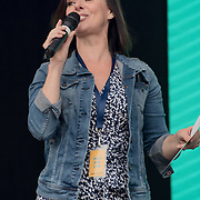 Presenter for the West End Live on June 16 2018  in Trafalgar Square, London.