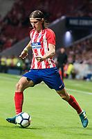 Atletico de Madrid's Filipe Luis during La Liga match between Atletico de Madrid and Malaga CF at Wanda Metropolitano in Madrid, Spain September 16, 2017. (ALTERPHOTOS/Borja B.Hojas)
