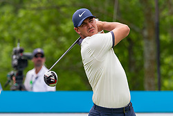 May 9, 2019 - Dallas, TX, U.S. - DALLAS, TX - MAY 09: Brooks Koepka hits his tee shot on #9 during the first round of the AT&T Byron Nelson on May 9, 2019 at Trinity Forest Golf Club in Dallas, TX. (Photo by Andrew Dieb/Icon Sportswire) (Credit Image: © Andrew Dieb/Icon SMI via ZUMA Press)