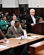Thomas Rapacki Jr. and Thomas Rapacki Sr. both receive commendations from Camden city council at city hall.