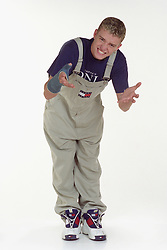 Justin Timberlake of American boy band 'N Sync poses in the studio.
