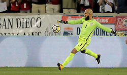 September 1, 2017 - Harrison, NJ, USA - Harrison, N.J. - Friday September 01, 2017:   Tim Howard during a 2017 FIFA World Cup Qualifying (WCQ) round match between the men's national teams of the United States (USA) and Costa Rica (CRC) at Red Bull Arena. (Credit Image: © John Dorton/ISIPhotos via ZUMA Wire)