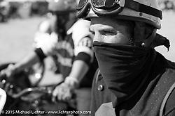 "Josh Kohn on his 1937 Harley-Davidson 45"" Flathead at the race of Gentlemen. Wildwood, NJ, USA. October 11, 2015.  Photography ©2015 Michael Lichter."