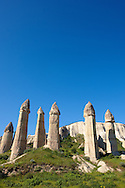 The Fairy Chimneys of Love Valley - Cappadocia Turkey .<br /> <br /> If you prefer to buy from our ALAMY PHOTO LIBRARY  Collection visit : https://www.alamy.com/portfolio/paul-williams-funkystock/cappadociaturkey.html (TIP refine search - type which part of Cappadocia into the LOWER search box)<br /> <br /> Visit our TURKEY PHOTO COLLECTIONS for more photos to download or buy as wall art prints https://funkystock.photoshelter.com/gallery-collection/3f-Pictures-of-Turkey-Turkey-Photos-Images-Fotos/C0000U.hJWkZxAbg