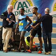 NLD/Apeldoorn/20180217 - NK Indoor Athletiek 2018, 60 meter heren, Delano van Orsouw en Jim Van Gorkum gediswalificeerd